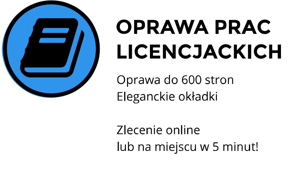 drukowanie oprawa prac licencjackich online Kraków Kawiory