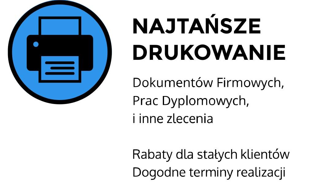 najtańszy wydruk w krakowie ul. Spadochroniarzy