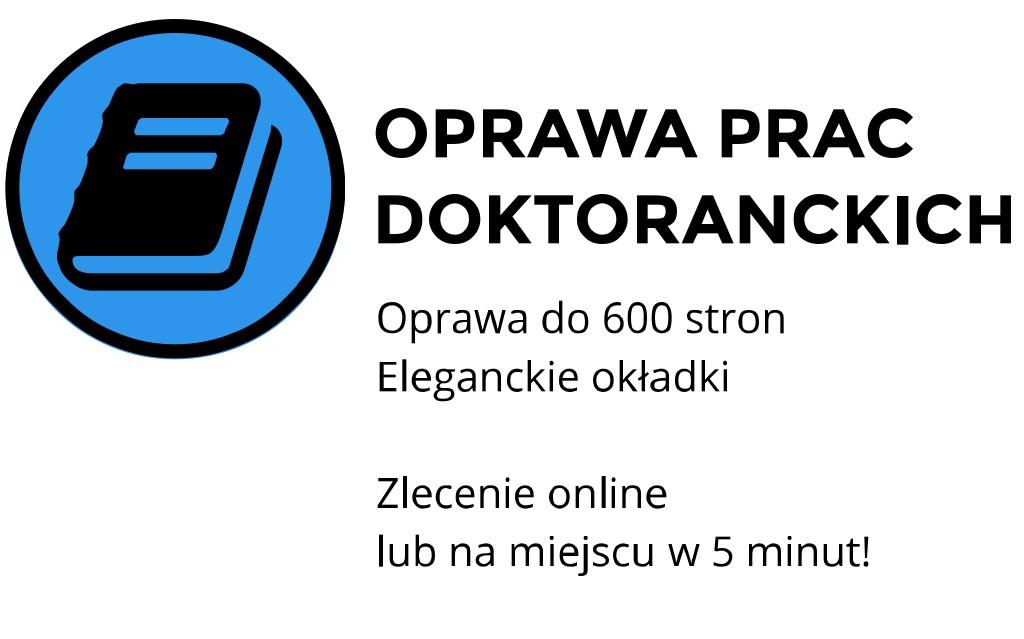 oprawa prac doktorskich kraków ul. Skałeczna