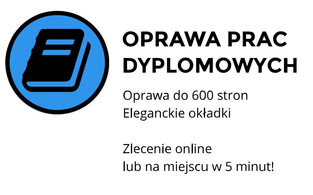 oprawa prac dyplomowych Kraków Kawiory